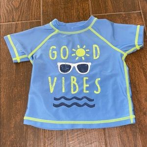 First impressions 18 months good vibes rash guard